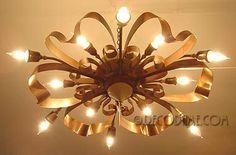 french ceiling lights   1940's French Moderne Ceiling Light - Whimsical   Lovely Light