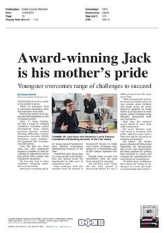 Jack Greer wins our Jack Petchey Foundation Outstanding Achievement Award for 2020, as covered by the Colchester Gazette. Essex County, Anxiety, Foundation, Challenges, Cover, Foundation Series, Stress