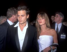 Johnny Depp and Kate Moss in 1995