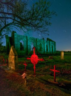 St. Dominic Cemetery (haunted light painting by Noel Kerns)