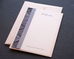 the tiny card company - Florence thank you notelet in pewter. #wedding #stationery #deco