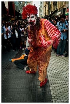 No, I hate clowns and I hate zombies!!! :(  I don't even care if he has McNuggets for me!