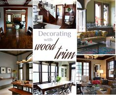 Ideas for decorating with wood trim