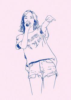 Girl House, Tumblr Wallpaper, Girls Generation, Snsd, Art Drawings, Anime Art, Idol, Tiffany Hwang, Fan Art