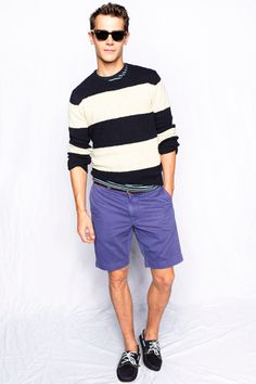 i am loving the sweater - thicker stripes #menswear