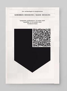 qr code as art, minimalism