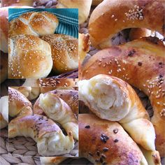 Cesnakové rožky a sézamové pletenky alebo dva z jedného cesta Pretzel Bites, Bread, Food, Kitchen, Hampers, Cooking, Eten, Kitchens, Bakeries