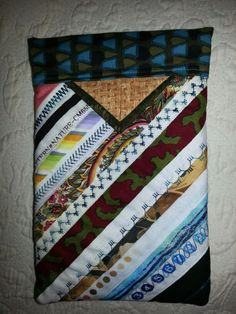 Selvage edge Snap purse made by Linda Duplantis