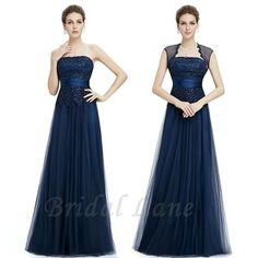 Navy blue, soft tulle evening dresses for matric ball / matric farewell in Cape Town - Bridal Lane ♥