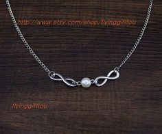 Infinity necklace  bridesmaid gifts  infinity of by flyinggifttou, $0.99