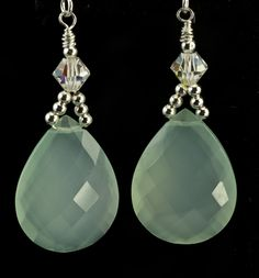 Aqua Chalcedony Brio Earrings  save 30% at checkout with coupon code    spring