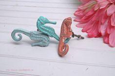 Seahorse Knob / Decorative Knob / Nautical Decor by Theshabbyshak, $6.75