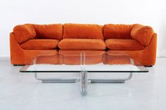 Milo Baughman for Directional Sofa with Original Upholstery | From a unique collection of antique and modern sofas at https://www.1stdibs.com/furniture/seating/sofas/