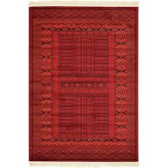 Found it at AllModern - Kowloon Red Area Rug