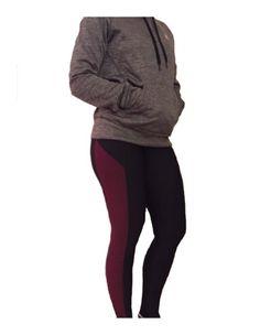 Adidas Climawarm Black/Maroon Leggings - Womens