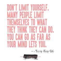 Mary Kay Ash quote for entreprenuers