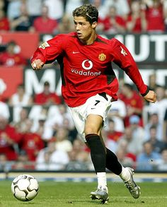 Ronaldo's debut with Manchester United. Thought he was an immature player at the start (all the diving and unnecessary skill) but he has developed incredibly under Sir Alex.