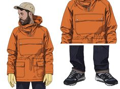 Great men's football casuals smock cagoule here.