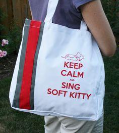 Big Bang Theory Inspired Soft Kitty Tote Bag. $15.00, via Etsy.
