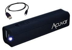 Acuvar Power Bank Portable Backup Battery Charger with Built in Wireless Charger Pad with Suction Cup Holder for All Apple iPhone, iPad, Samsung, Pixel and Many Other Digital Devices Portable Battery, Portable Charger, Htc One M9, Gifts Under 10, Apple Iphone 5, Cell Phone Accessories, Usb Flash Drive, Galaxies, Smartphone