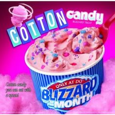 cotton candy blizzard!