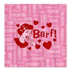 Hearts And Romance Barf Anti-Valentine's Day Greeting Card My Funny Valentine, Funny Valentines Day Pictures, Hate Valentines Day, Valentine Greeting Cards, Valentine Images, Valentine Hearts, Singles Awareness Day, Romance, Heart Day
