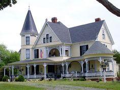 sunnyinoregon:    Large yellow Victorian house