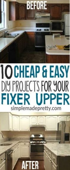 We bought a fixer upper home that needed a lot of work! These 10 home improvement projects fit our budget and we saved so much money! We ended up selling our house and made a huge profit and return on investment! If you are renovating a house, start with these DIY home hacks!