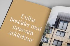 Brand identity and project brochure spread for Scandinavian developer Innovation Properties by 25AH