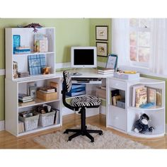 Bureaux angles and ps on pinterest for Bureau d angle enfant