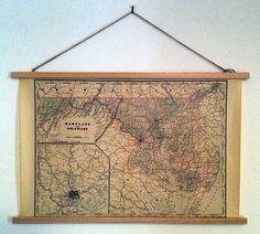 LongDistanceDIY : How to make a poster hanging frame. DIY.