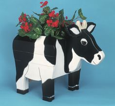 Cow Yard Planter Woodcraft Pattern