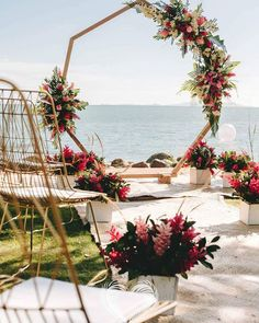 geometric beach wedding ceremony backdrop and decorations wedding backdrop 20 Stunning Beach Wedding Ceremony Ideas-Backdrops, Arches and Aisles - EmmaLovesWeddings Wedding Ceremony Backdrop, Beach Ceremony, Wedding Ceremonies, Arch Wedding, Garden Wedding, Wedding Church, Church Ceremony Decor, Diy Wedding Arbor, Wedding Backdrops
