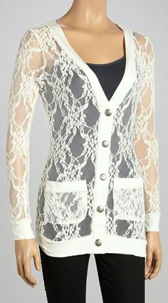 a lace cardigan