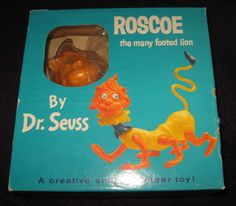 1960's Original Dr. Seuss Roscoe the Many Footed Lion New in Box