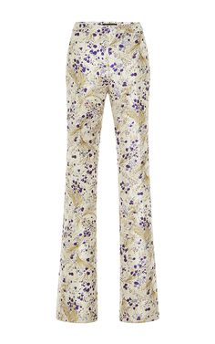GIAMBATTISTA VALLI Whimsical Metallic Flared Pant. #giambattistavalli #cloth #pant