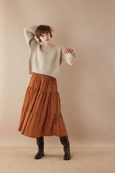 Cropped ribbed sweater with side splits - Women's Clothing Online Made in Italy