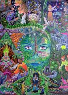 Da Floresta Visionary Art, Psychedelic Art, All Art, Tarot, Edgar Allan Poe, Archetypes, Earth Goddess, Moon Goddess, Sacred Art