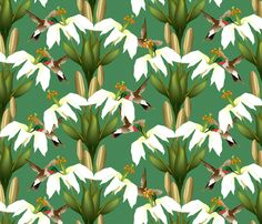 Lily_Damask_5 fabric by glimmericks on Spoonflower - custom fabric Coming in April 2014.
