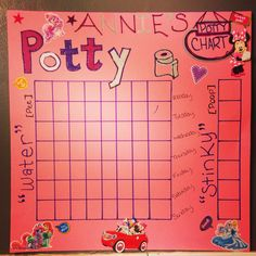 DIY potty training chart I just made, I hope this works! :)