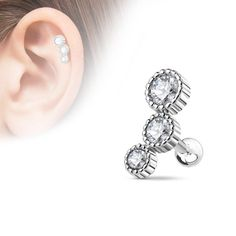 1-4 Pair Men Women Stud Earring Helix Color PVD Plated Surgical Steel 3-8mm Ball