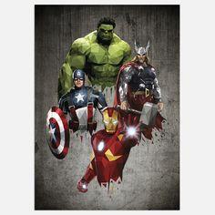 The Avengers Poster - Marvel Posters Marvel Fanart, Marvel Comics, Marvel Vs, Marvel Heroes, Captain Marvel, The Avengers, Avengers Poster, Avengers Shield, Avengers Actors