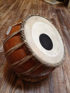 This traditional Tabla Drum is a two-tone ceramic hand drum used in classical Indian music.  Similar to the Bongo it has a much deeper bass ...