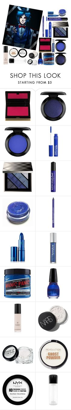 """""""Bonnie FNAF"""" by jasontoddleovaldezlover ❤ liked on Polyvore featuring beauty, Kevyn Aucoin, John Lewis, NYX, Burberry, Lipstick Queen, Urban Decay, Revlon, Rouge Bunny Rouge and MAKE UP FOR EVER"""