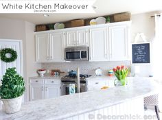 Gorgeous White Kitchen Reveal...You should see the before! decorchick.com