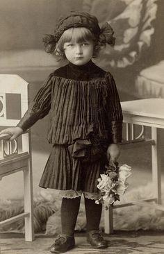 +~+~ Antique Photograph ~+~+  Charming young girl ~ Moravia, Czechia. ca. 1910