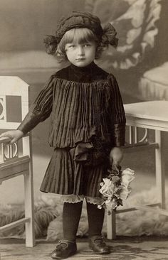 young girl, Moravia, ca. 1910