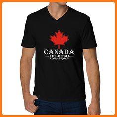 Teeburon MAPLE CANADA Jiu Jitsu V-Neck T-Shirt
