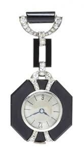 Image result for ART DECO LAPEL WATCH ONYX