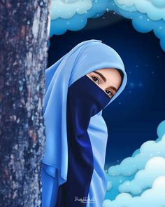 Cartoon Girl Images, Cute Cartoon Girl, Cartoon Styles, Hijabi Girl, Girl Hijab, Hijab Dp, Arab Girls Hijab, Muslim Girls, Islamic Girl Images